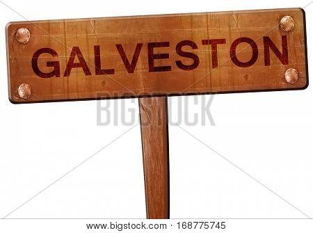 galveston road sign, 3D rendering