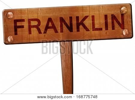 franklin road sign, 3D rendering