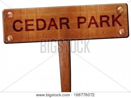cedar park road sign, 3D rendering