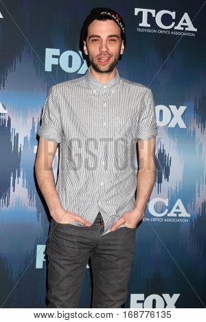 LOS ANGELES - JAN 11:  Jay Baruchel at the FOX TV TCA Winter 2017 All-Star Party at Langham Hotel on January 11, 2017 in Pasadena, CA