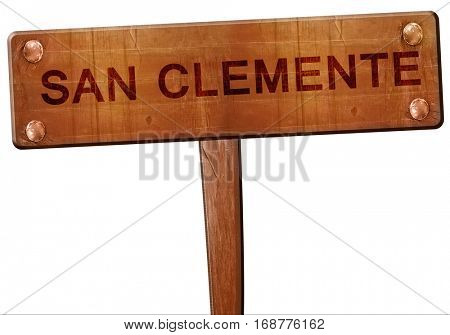san clemente road sign, 3D rendering