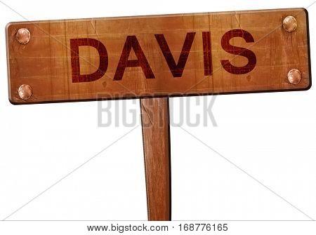 davis road sign, 3D rendering