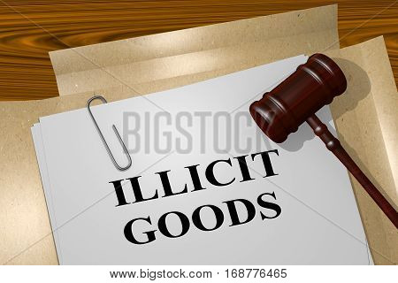 Illicit Goods Concept
