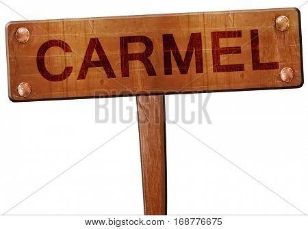 carmel road sign, 3D rendering