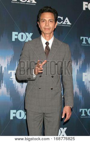 LOS ANGELES - JAN 11:  Benjamin Bratt at the FOX TV TCA Winter 2017 All-Star Party at Langham Hotel on January 11, 2017 in Pasadena, CA