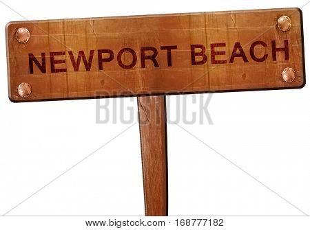 newport beach road sign, 3D rendering