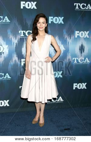 LOS ANGELES - JAN 11:  Britt Lower at the FOX TV TCA Winter 2017 All-Star Party at Langham Hotel on January 11, 2017 in Pasadena, CA