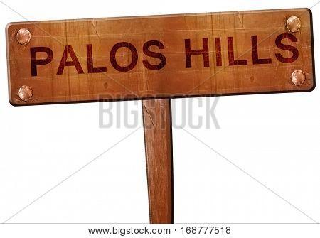 palos hills road sign, 3D rendering