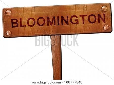 bloomington road sign, 3D rendering