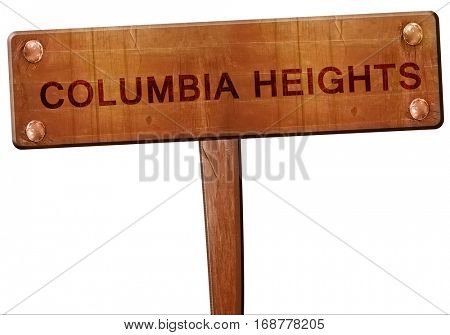 columbia heights road sign, 3D rendering