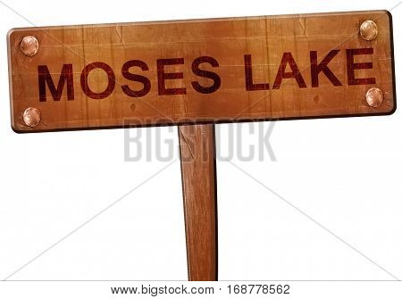 moses lake road sign, 3D rendering