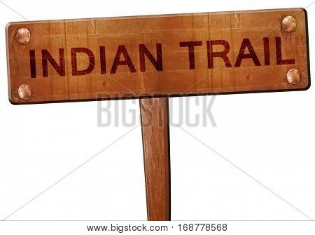 indian trail road sign, 3D rendering