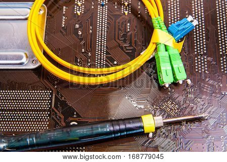 fiber optic patch cord on board computer