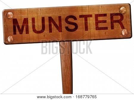 munster road sign, 3D rendering