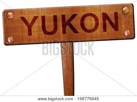 yukon road sign, 3D rendering