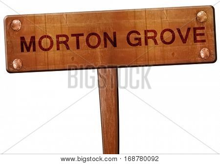 morton grove road sign, 3D rendering