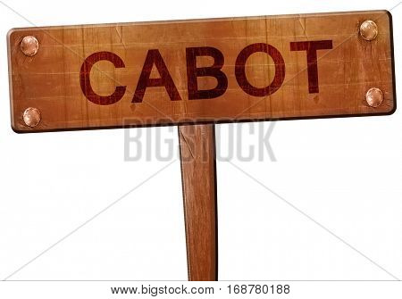 cabot road sign, 3D rendering