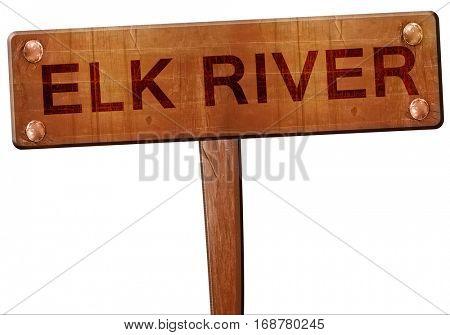 elk river road sign, 3D rendering