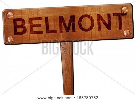 belmont road sign, 3D rendering