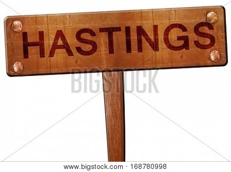 hastings road sign, 3D rendering