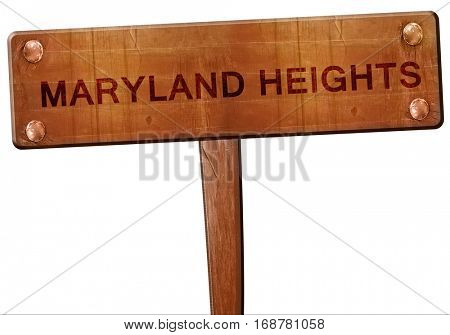 maryland heights road sign, 3D rendering