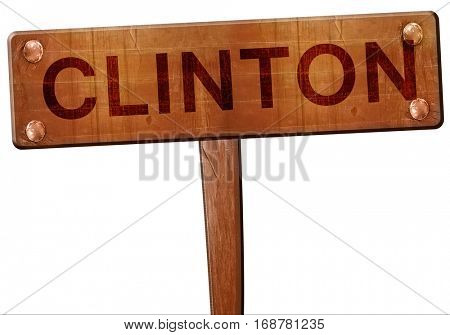 clinton road sign, 3D rendering