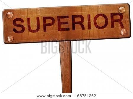 superior road sign, 3D rendering