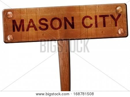mason city road sign, 3D rendering
