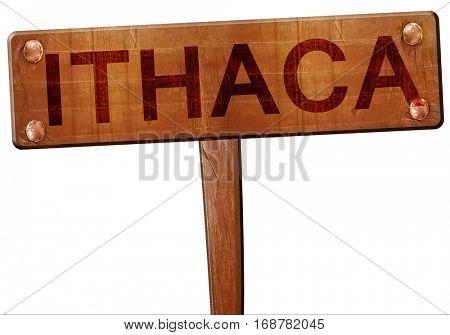 ithaca road sign, 3D rendering