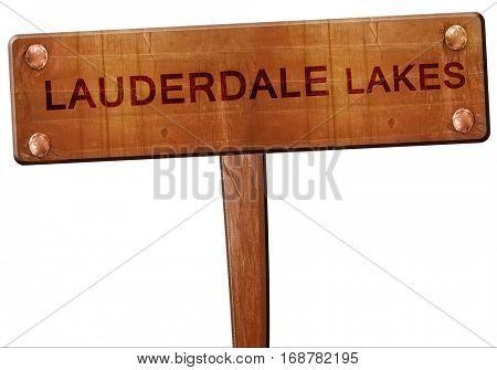 lauderdale lakes road sign, 3D rendering