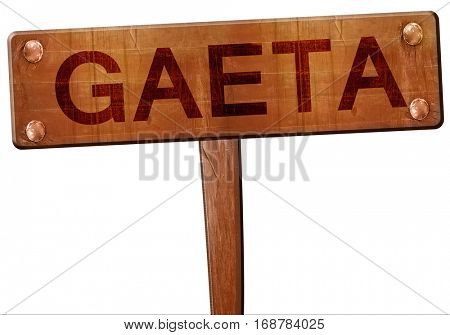 Gaeta road sign, 3D rendering