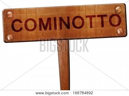 Cominotto road sign, 3D rendering