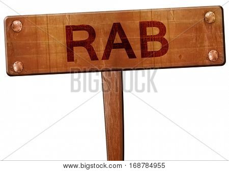 Rab road sign, 3D rendering