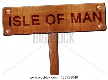 Isle of man road sign, 3D rendering