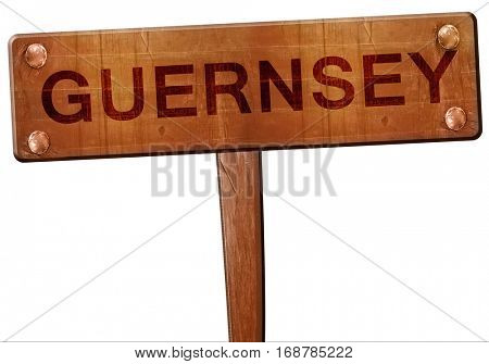 Guernsey road sign, 3D rendering