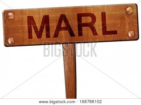 Marl road sign, 3D rendering