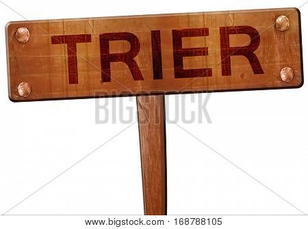 Trier road sign, 3D rendering