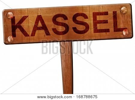 Kassel road sign, 3D rendering