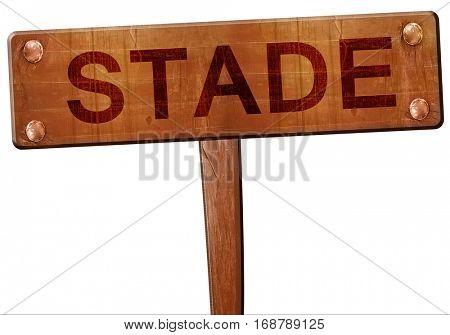 Stade road sign, 3D rendering