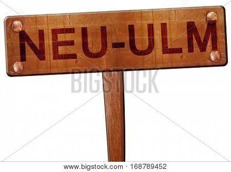Neu-ulm road sign, 3D rendering