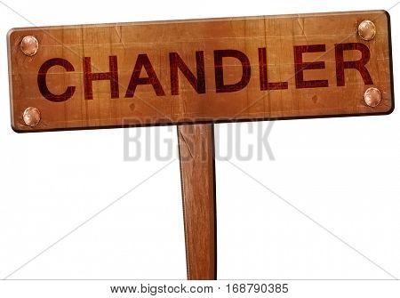 chandler road sign, 3D rendering