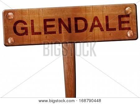 glendale road sign, 3D rendering