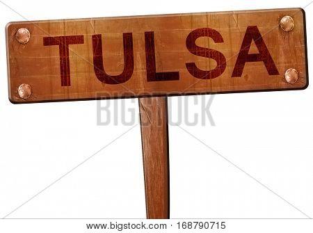 tulsa road sign, 3D rendering