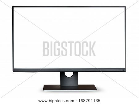 Computer monitor isolated on a white background
