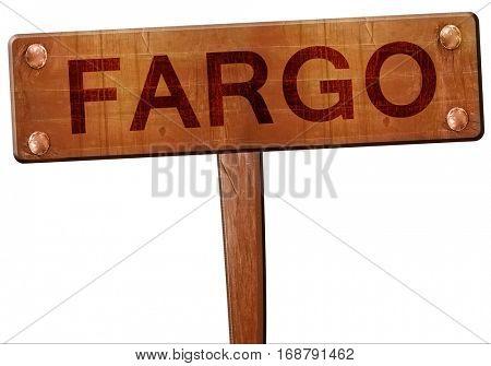 fargo road sign, 3D rendering
