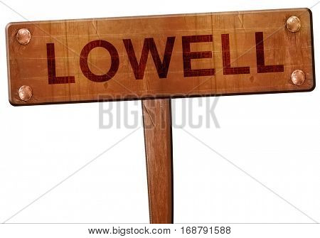 lowell road sign, 3D rendering