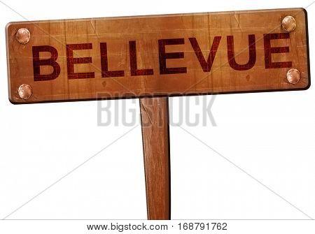 bellevue road sign, 3D rendering