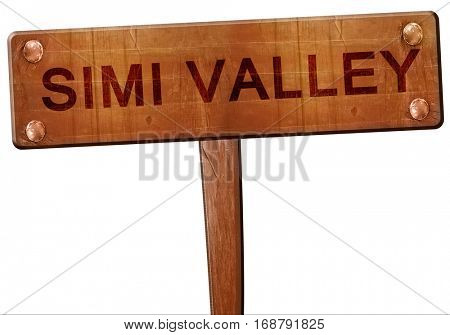 simi valley road sign, 3D rendering