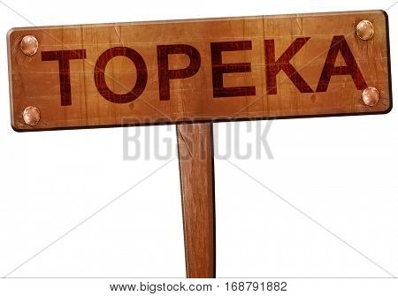 topeka road sign, 3D rendering