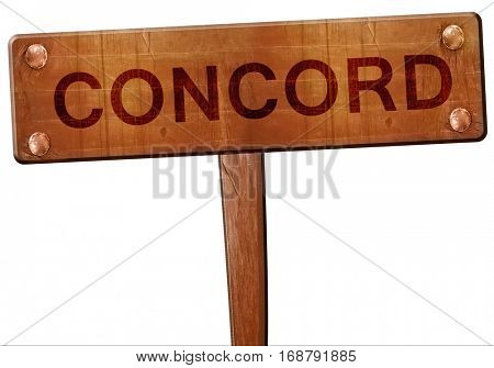 concord road sign, 3D rendering
